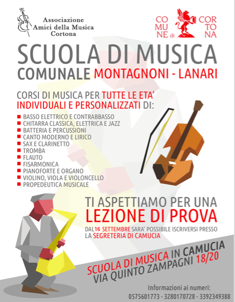Open Day e inizio delle lezioni alla Scuola di Musica comunale