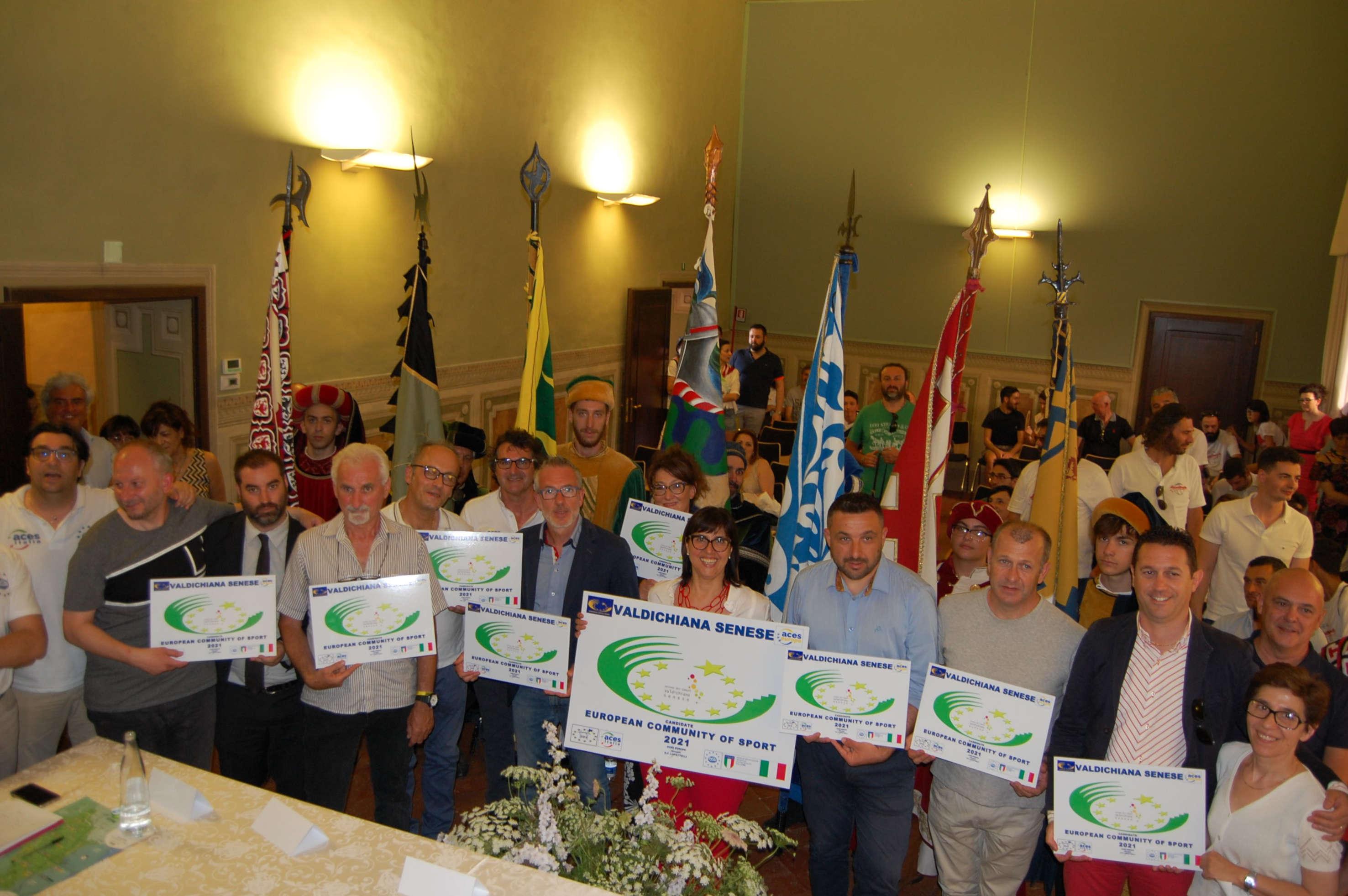 La Valdichiana Senese designata Comunità Europea dello Sport 2021