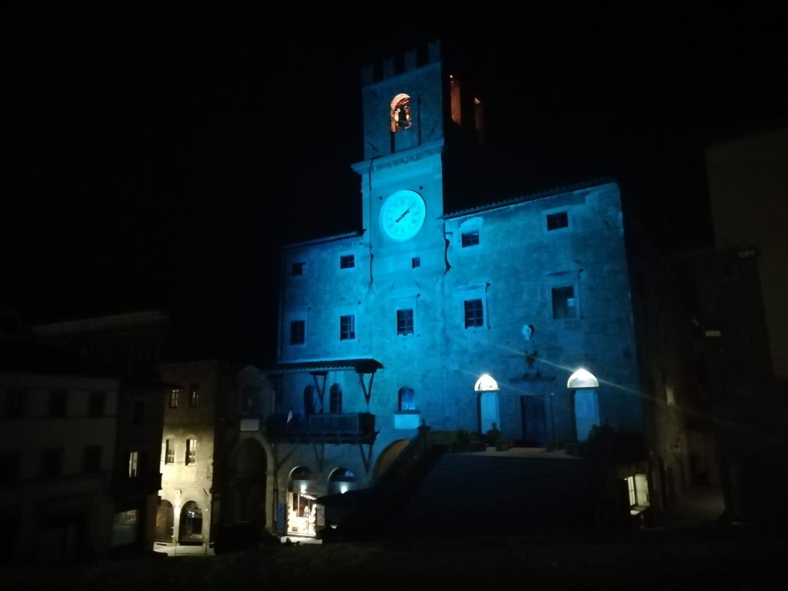 Giornata Mondiale per la prevenzione del diabete: anche il Comune di Cortona è illuminato di blu