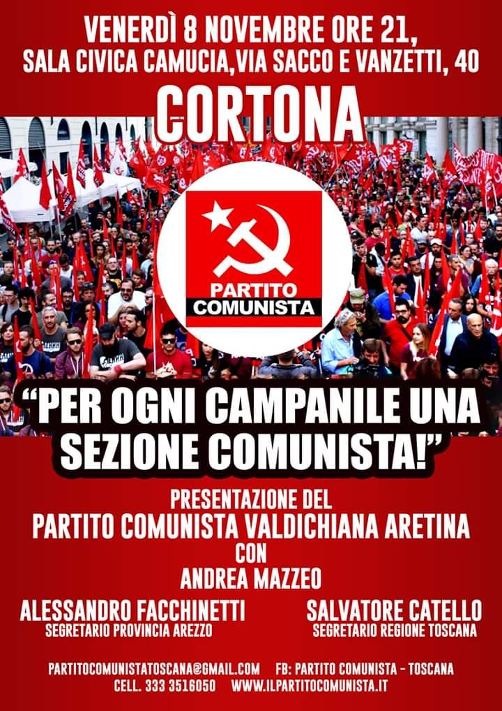 Anche a Cortona nasce la sezione del Partito Comunista