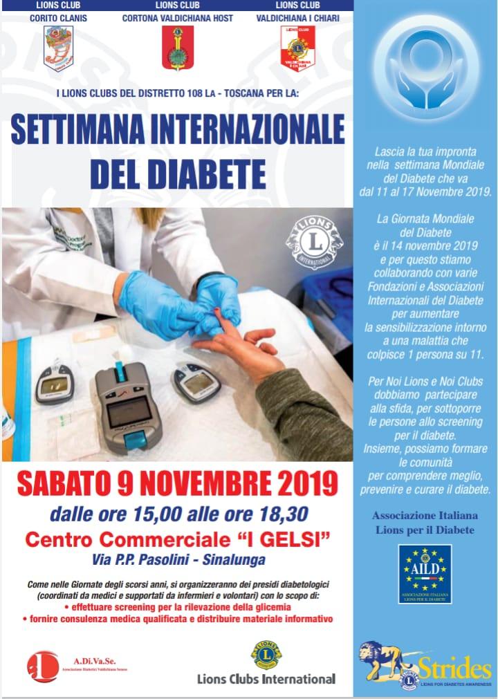 Lions Club Cortona Valdichiana Host in campo contro il diabete con due iniziative