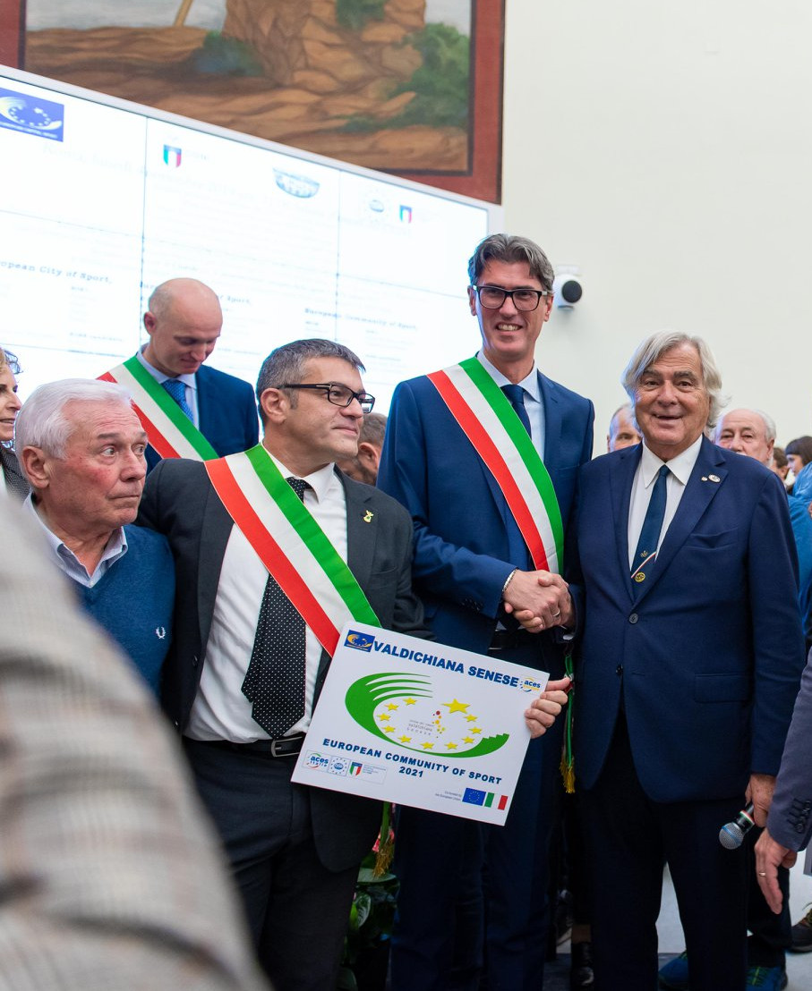Ufficializzata al Foro Italico la designazione di Comunità Europea dello Sport per la Valdichiana senese