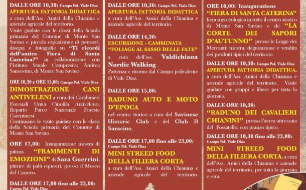 Fiera di Santa Caterina, a Monte San Savino 3 giorni di eventi
