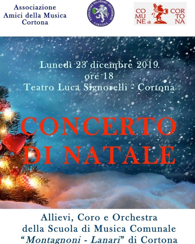 Concerto di Natale con gli allievi della Scuola di Musica Comunale di Cortona