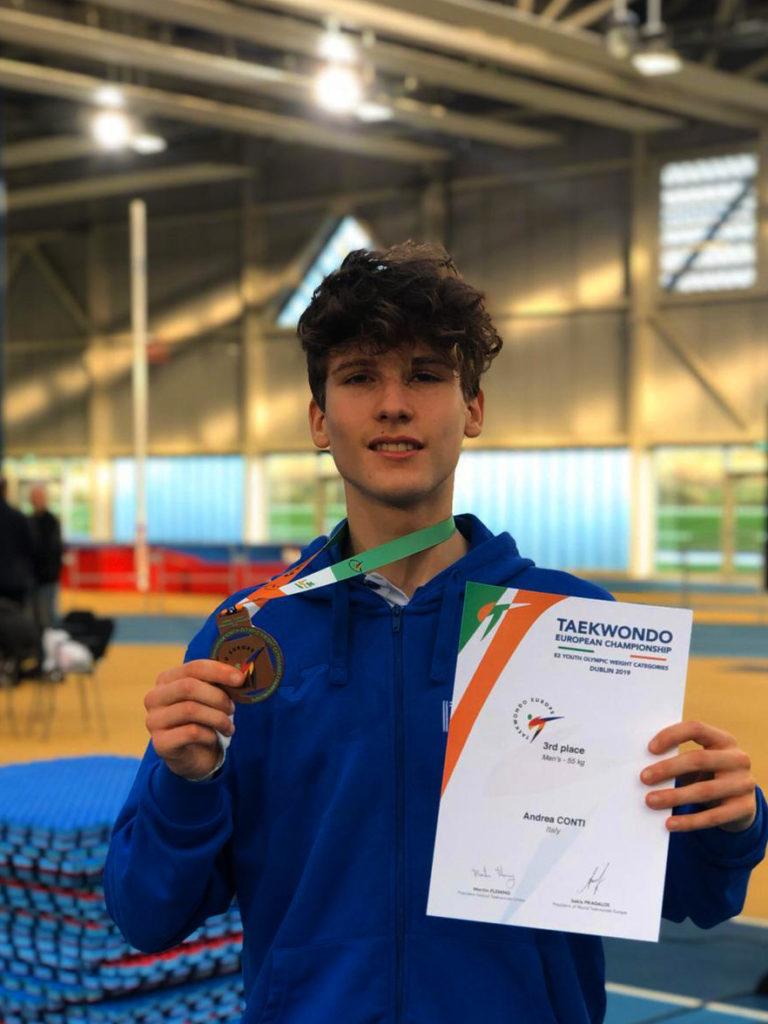Taekwondo: Andrea Conti bronzo al Campionato Europeo Junior per Categorie Olimpiche