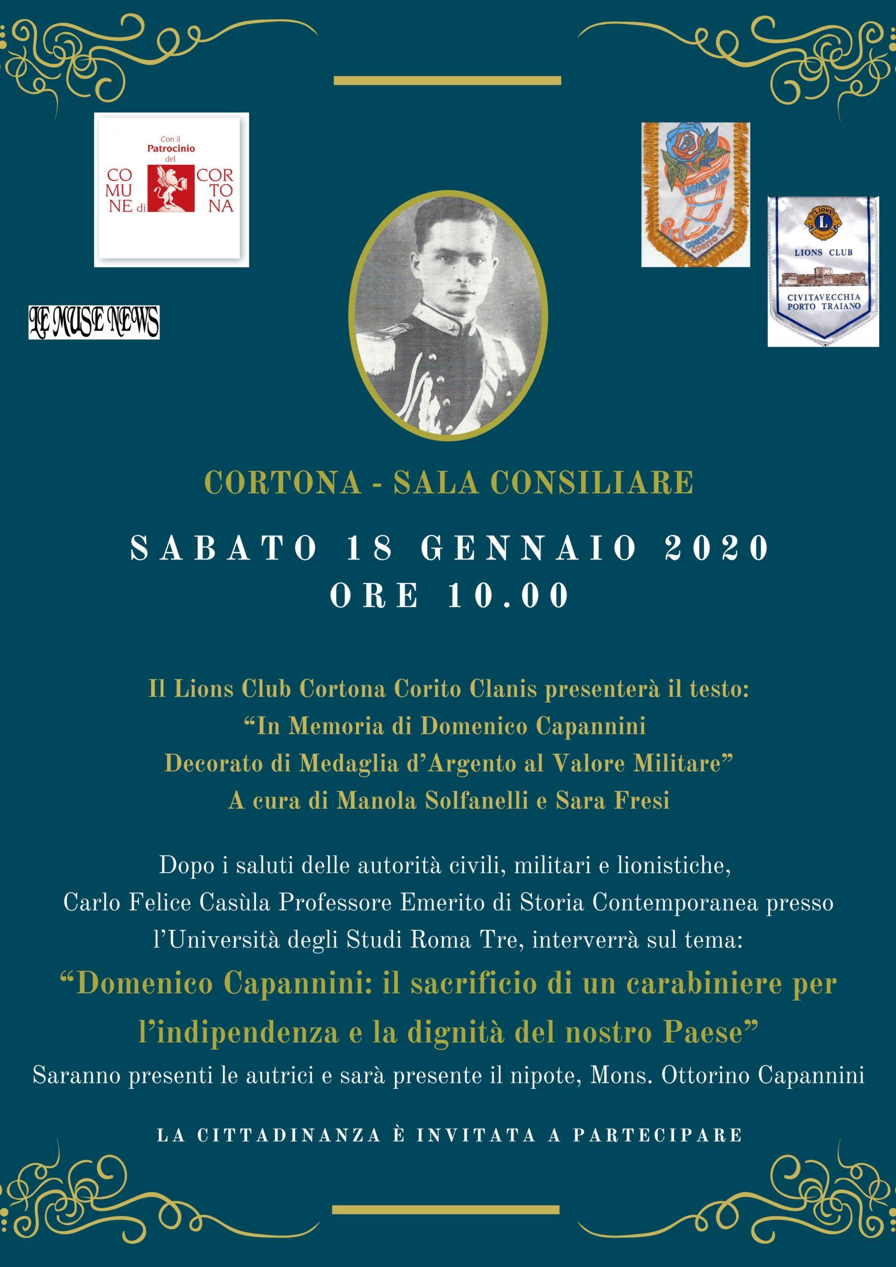 Cortona rende omaggio a Domenico Capannini