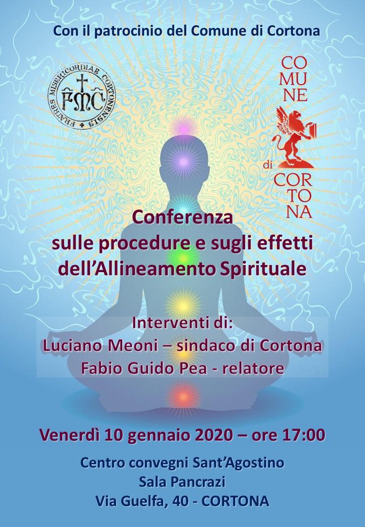 Allineamento spirituale, conferenza al Centro Convegni Sant'Agostino