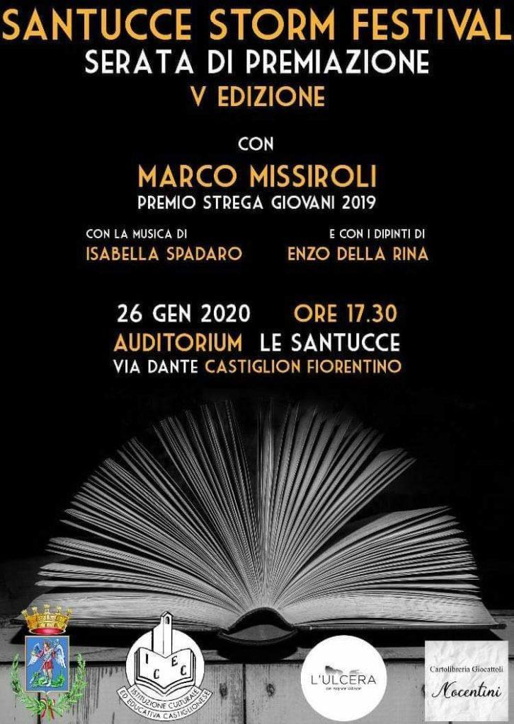 Marco Missiroli, Premio Strega Giovani 2019, a Castiglion Fiorentino per il finale di Santucce Storm Festival