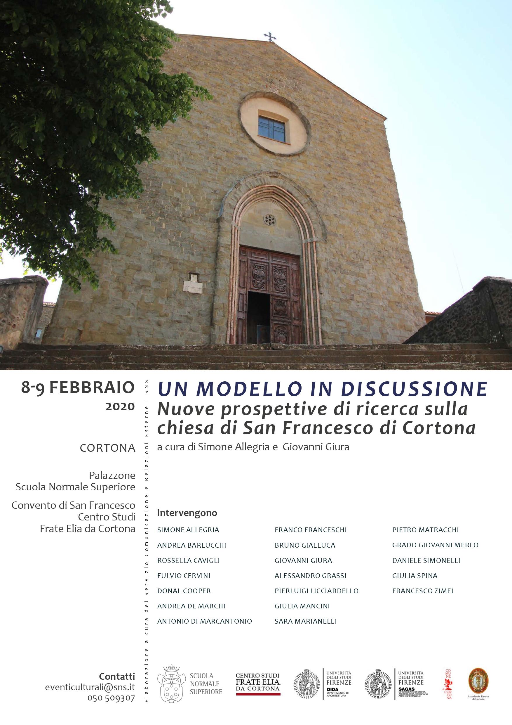 Nuove prospettive di ricerca sulla chiesa di San Francesco di Cortona, convegno promosso da Normale di Pisa e Centro Studi Frate Elia