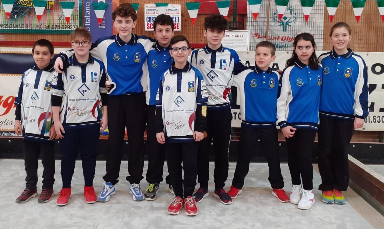 Domenica di bocce a Cortona con il Campionato Juniores Società Raffa