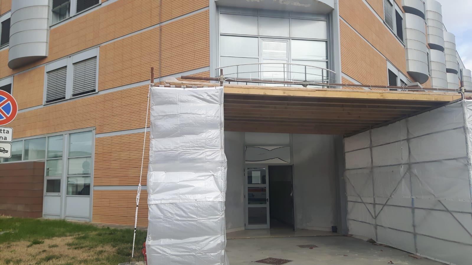 Pronto Soccorso, Meoni visita il cantiere all'Ospedale di Fratta