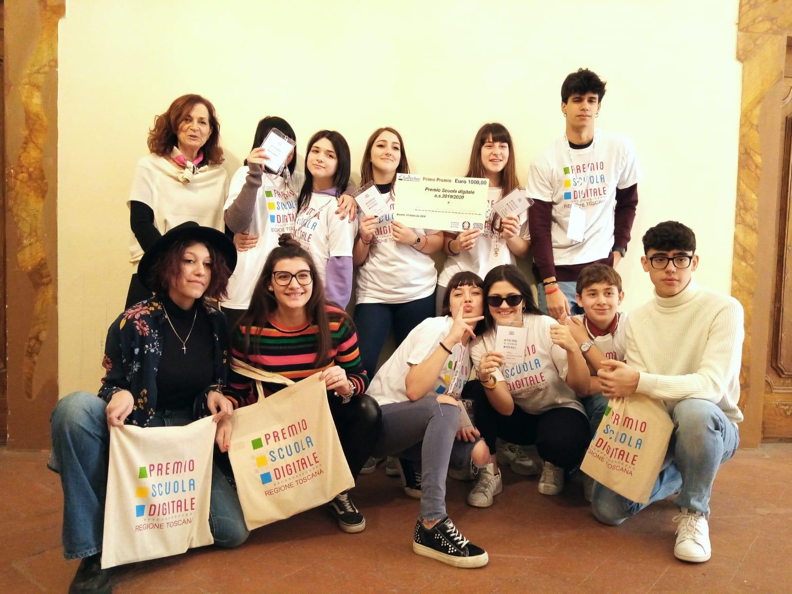 L'Istituto Superiore Luca Signorelli di Cortona vince la fase provinciale del Premio Scuola Digitale
