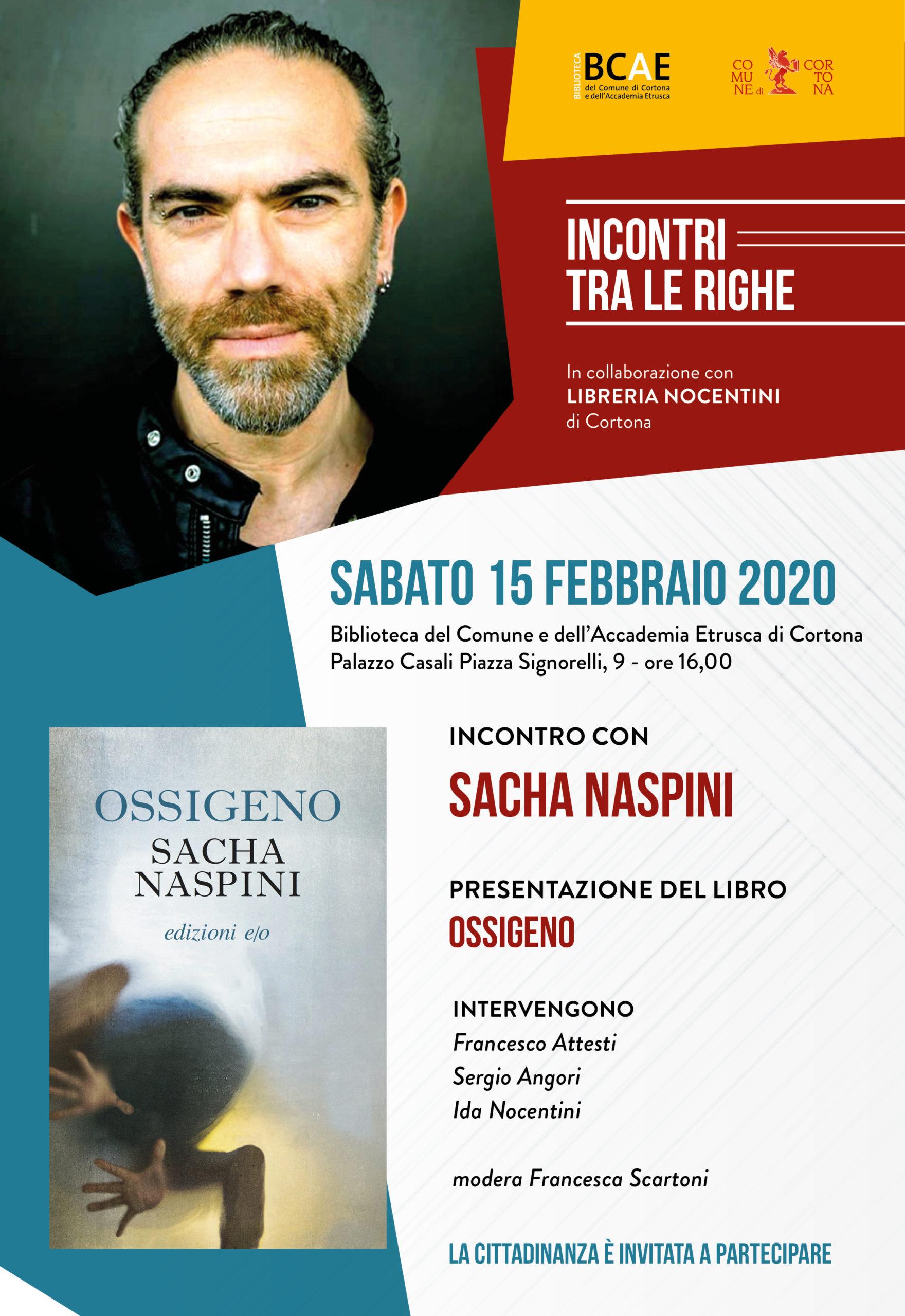 Sacha Naspini ospite di Incontri tra le righe