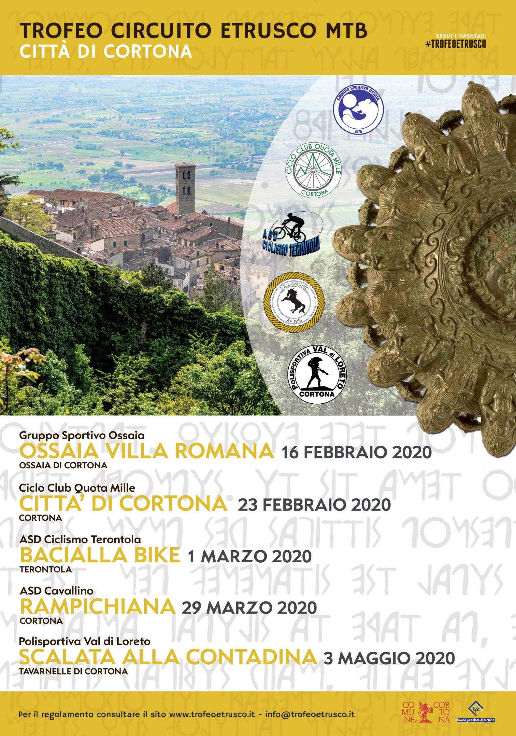 Con il Circuito Etrusco e il Trail Cortona conferma il suo potenziale come Città dello Sport