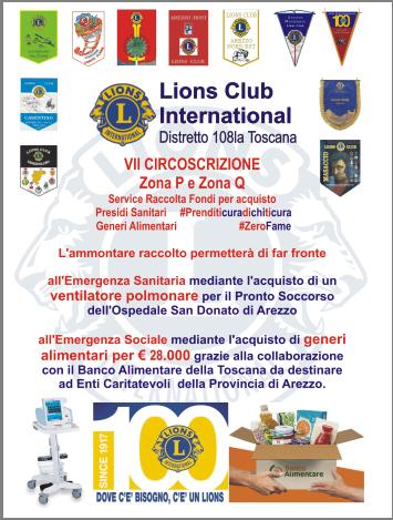 Lions, continua l'impegno per l'emergenza Corona Virus. Ecco come contribuire