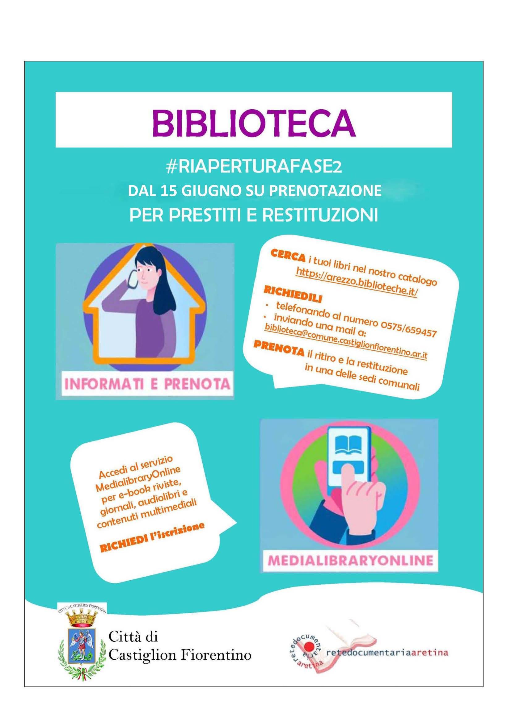 Riapre la Biblioteca Comunale di Castiglion Fiorentino