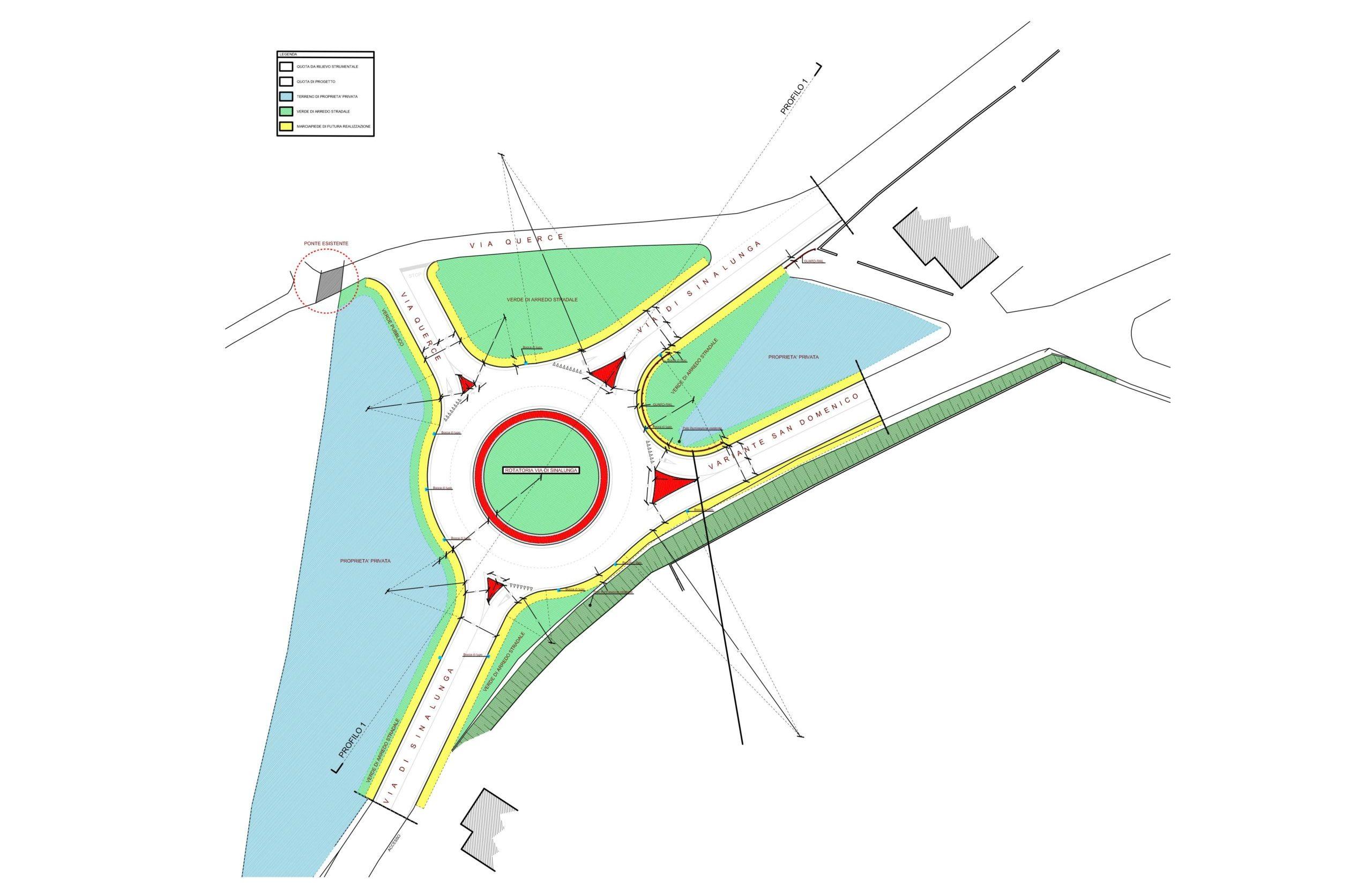 Nuova rotatoria a Foiano all'incrocio tra via di Sinalunga e Variante San Domenico