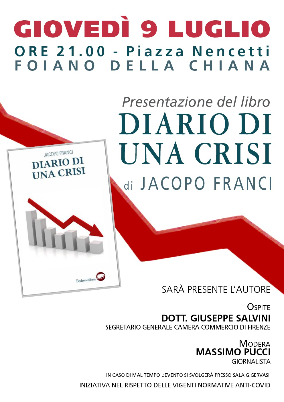 """Presentazione del libro """"Diario di una crisi"""" opera prima di Jacopo Franci"""