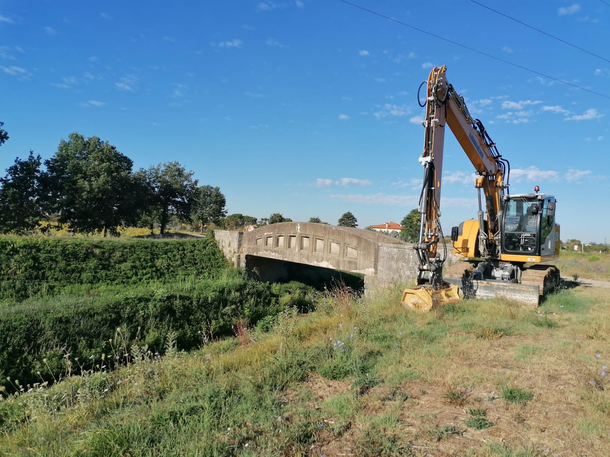 Castiglion Fiorentino, interventi di manutenzione su canali e fossi