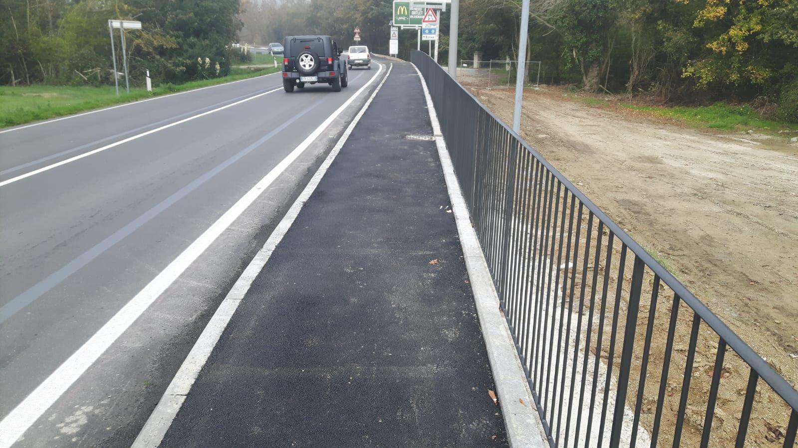 Completato il nuovo marciapiede sulla SR71 a Tavarnelle