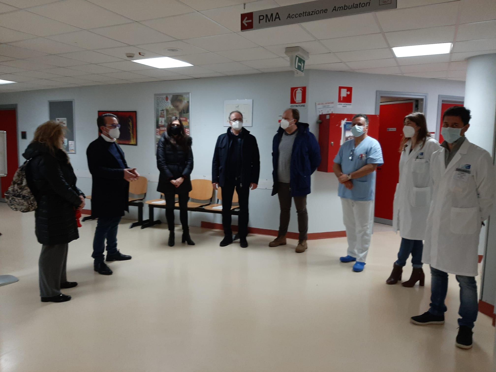 Ospedale Fratta, il sindaco fa gli auguri e ringrazia gli operatori. Ribadite le richieste ad Asl e Regione