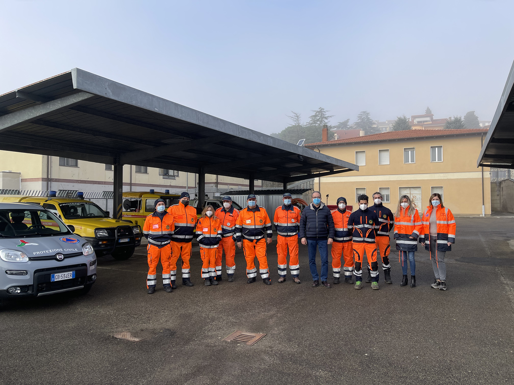 Cortona, una nuova base logistica per i mezzi della Protezione civile