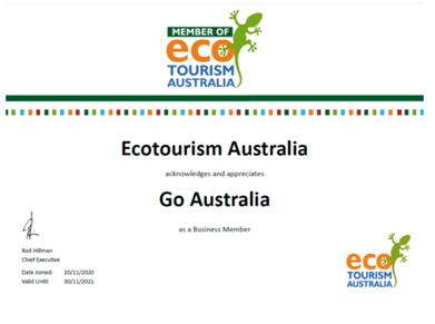 Go Australia primo tour operator in Europa a diventare membro di Ecotourism Australia