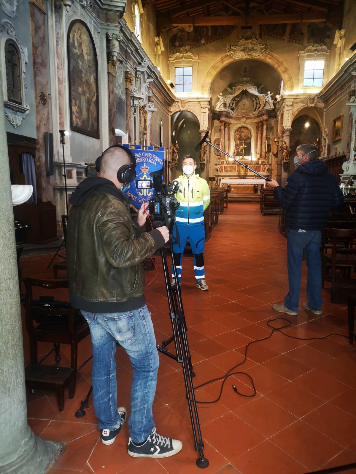 Le telecamere di Rai Parlamento a Monte San Savino per la Misericordia
