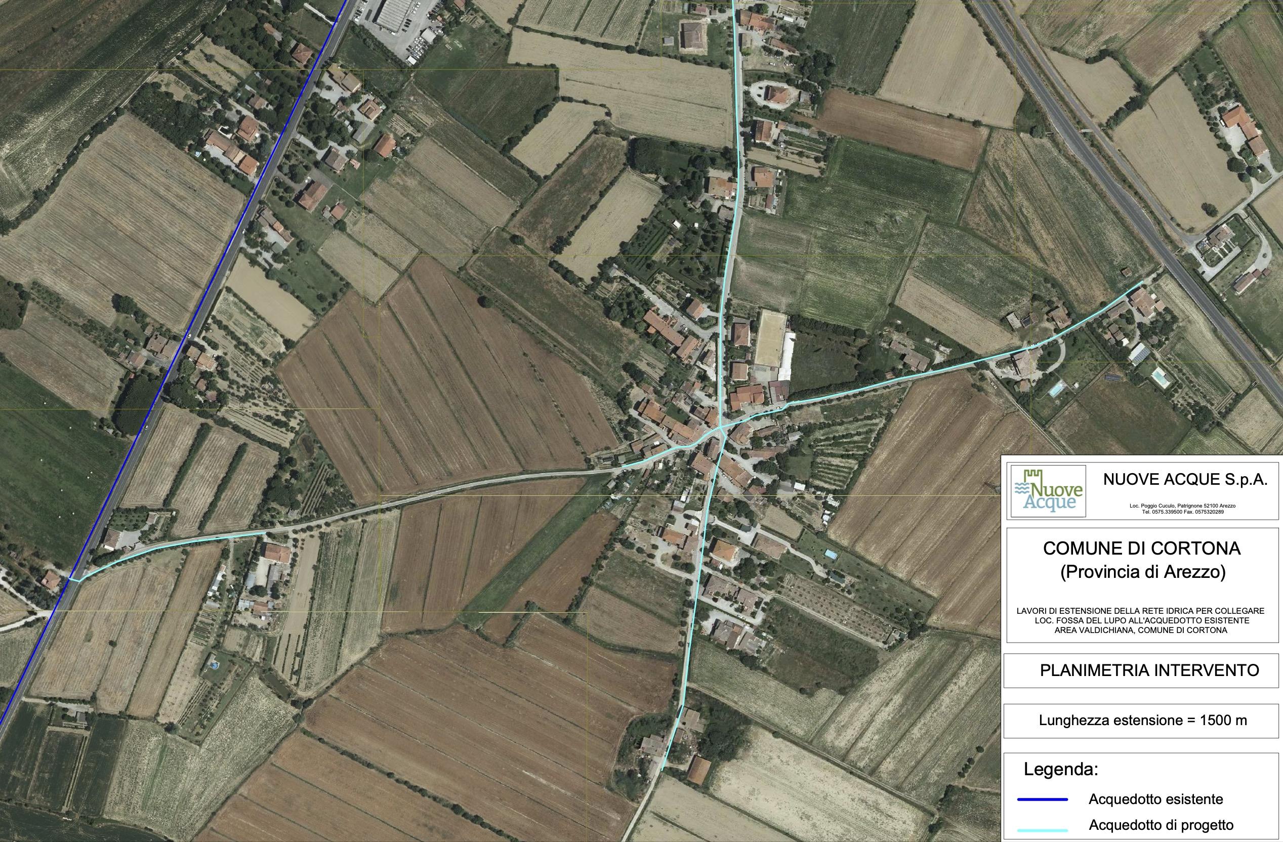 Cortona, estensione dell'acquedotto: prossimo cantiere a Fossa del Lupo
