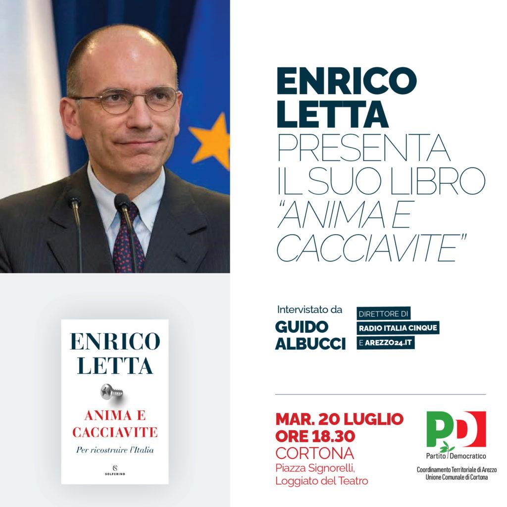 Enrico Letta candidato alla Camera per la Valdichiana martedì a Cortona