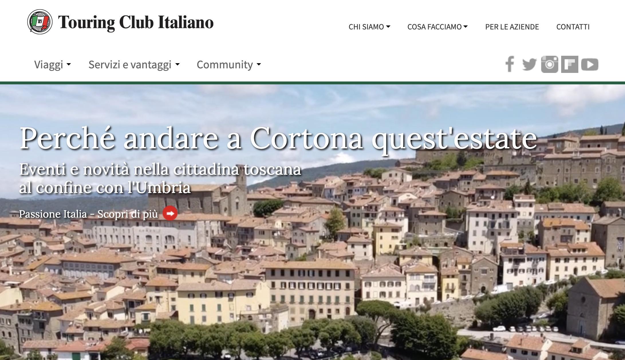 Cortona, promozione con il Touring Club