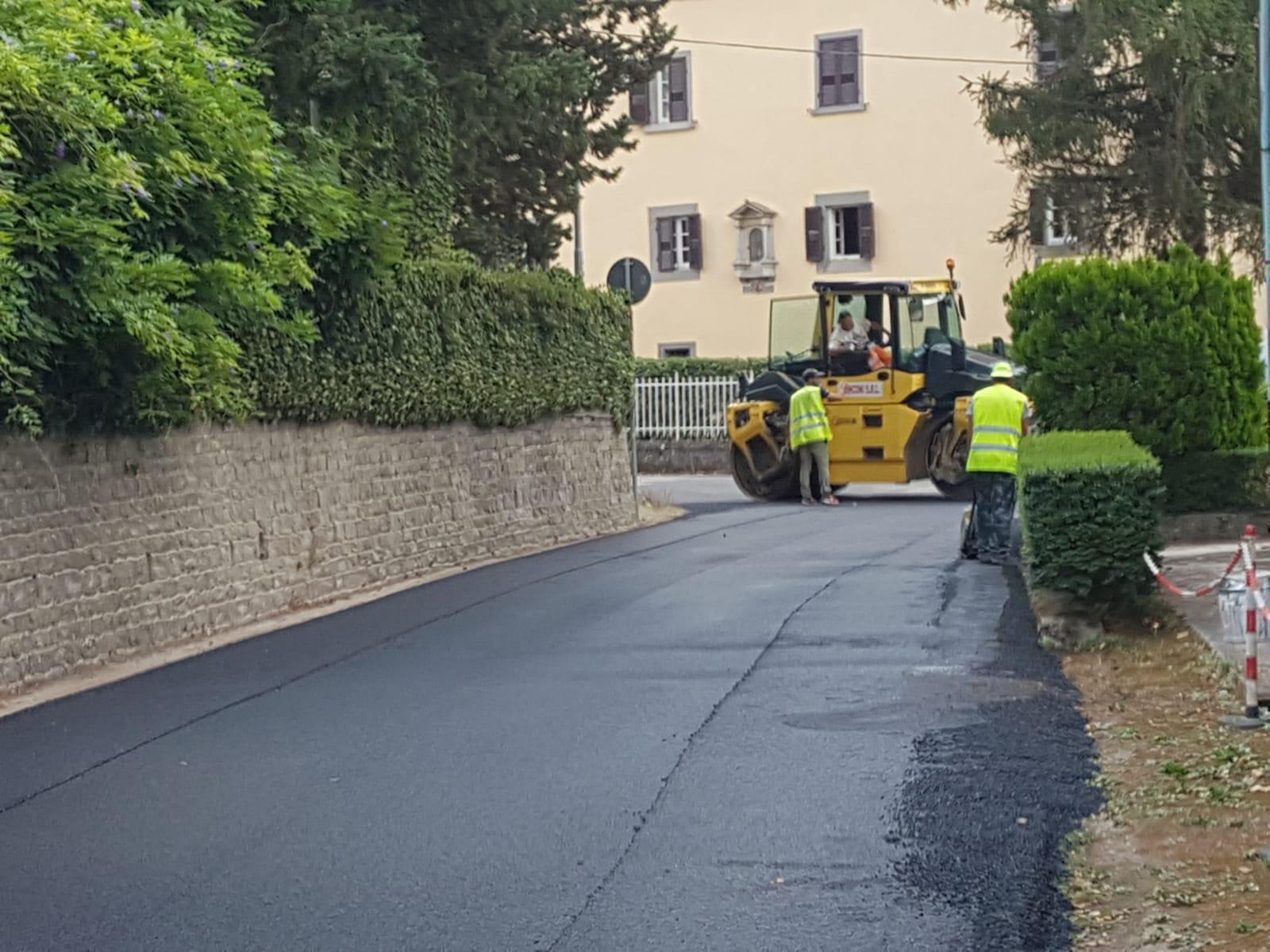 Cortona, lavori di asfaltatura: intervento a Monsigliolo, ecco i prossimi cantieri